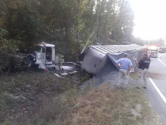 crashed 18-wheeler